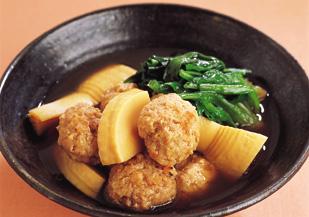 たけのこ と 鶏肉 の 煮物