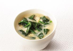 ほうれん草 味噌汁 レシピ