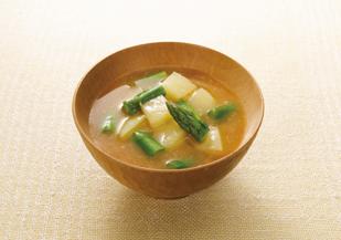アスパラ 味噌汁